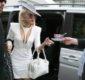 Lady Gaga arriving at London's Radio One, 2009.